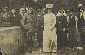 King George V, Queen Mary and the Duke of York visiting Enham Village Centre, 22 May 1922