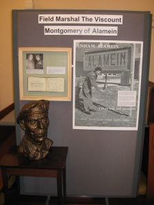 Display on Field Marshal the Viscount Montgomery of Alamein at St George's Church, Enham Alamein