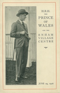 SSouvenir booklet for the visit of the Prince of Wales to Enham Village Centre, 29 June 1926