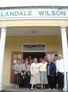 Local residents at the Landale Wilson Institute for the screening