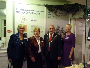 The Worshipful the Mayor and Mayoress of Test Valley with Enham Chief Executive Peta Wilkinson and Councillor Sandra Hawke