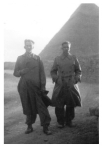 Wilhelm Ritter Von Thoma visiting the pyramids with Murray Wrobel