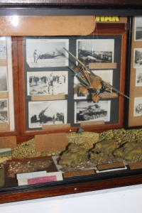 The Westland Lysander model reinstated in the Western Desert Campaign display cabinet